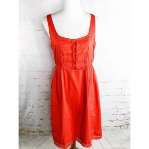 Anthropologie Maeve Orange Sundress Woman's M